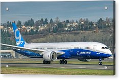Acrylic Print featuring the photograph Boeing 787-9 Takeoff by Jeff Cook