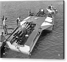 Boeing Jet Powered Speed Boat Acrylic Print by Underwood Archives