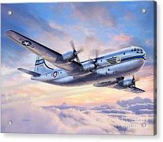 Boeing Yc-97a Stratofreighter Acrylic Print by Stu Shepherd
