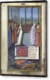 Boethius The Consolation Of Philisophy Acrylic Print by British Library