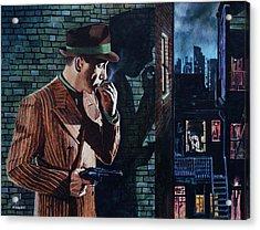 Bogart Is Waiting Acrylic Print by Jo King