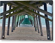 Bogue Banks Fishing Pier Acrylic Print by Sandi OReilly