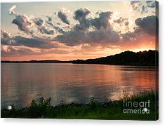Acrylic Print featuring the photograph Bohemia River Sunset In Maryland by Polly Peacock