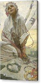 Bohemian Sun Dreamer Acrylic Print by Alphonse Marie Mucha