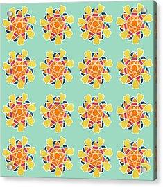 Boho Mandala Print Acrylic Print by Linda Woods
