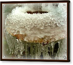 Boiling Ice Acrylic Print by Heidi Manly