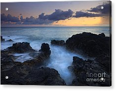 Boiling Sea Acrylic Print by Mike  Dawson