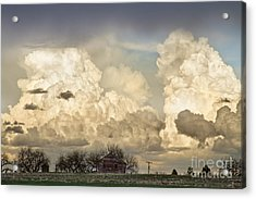 Boiling Thunderstorm Clouds And The Little House On The Prairie Acrylic Print by James BO  Insogna