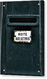Boite Aux Lettres Acrylic Print by Georgia Fowler