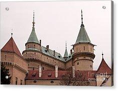 Acrylic Print featuring the photograph Bojnice Castle by Les Palenik