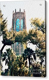 Bok Singing Canopy Tower Acrylic Print by Ecinja Art Works