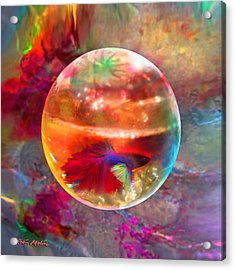 Acrylic Print featuring the painting Bol De Monet' by Robin Moline