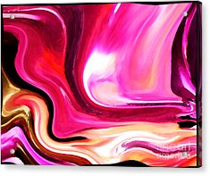 Bold Pink Abstract Acrylic Print by Carol Groenen