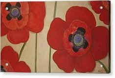 Bold Poppies Acrylic Print by Cindy Micklos