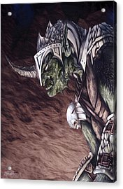 Bolg The Goblin King 2 Acrylic Print by Curtiss Shaffer