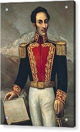 Bolivar, Sim�n 1783-1830. Venezuelan Acrylic Print