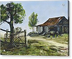 Bollier Shed And Gate Acrylic Print by Lynne Wilson