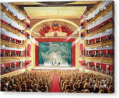 Acrylic Print featuring the painting Bolshoi Ballet by Lora Serra