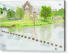 Bolton Abbey Acrylic Print by Bav Patel