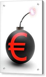 Bomb With Euro Symbol Acrylic Print by Victor De Schwanberg