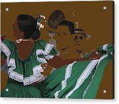 Bomba Dancers Acrylic Print