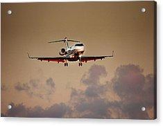 Bombardier Bd100 Acrylic Print by James David Phenicie