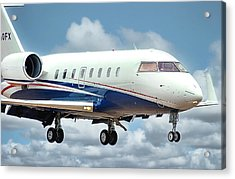 Bombardier Challenger Acrylic Print by James David Phenicie