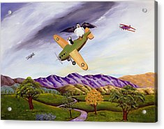 Acrylic Print featuring the painting Bombs Away by Susan Culver