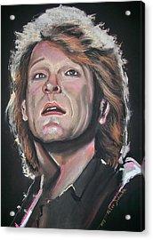 Acrylic Print featuring the pastel Bon Jovi by Peter Suhocke