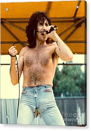 Bon Scott Of Ac Dc At Day On The Green - July 1979 Acrylic Print