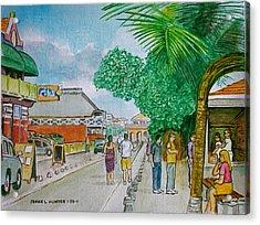 Bonaire Street Acrylic Print by Frank Hunter