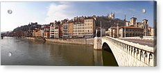 Bonaparte Bridge Over The Saone River Acrylic Print