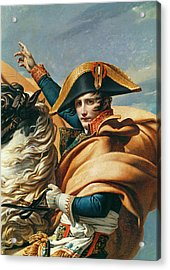 Bonaparte Crossing The Alps Oil On Canvas Detail Of 18491 Acrylic Print