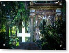 Bonaventure Memorials Acrylic Print by Mark Andrew Thomas