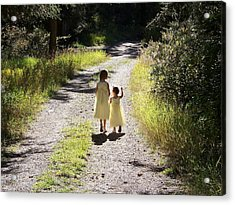 Acrylic Print featuring the photograph Bond Between Sisters by Sheri Keith