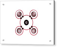Bond Formation In Methane Molecule Acrylic Print