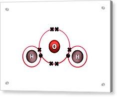 Bond Formation In Water Molecule Acrylic Print
