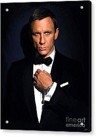 Bond - Portrait Acrylic Print by Paul Tagliamonte
