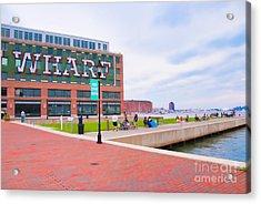 Bond Street Landing Baltimore Maryland Acrylic Print by Vizual Studio
