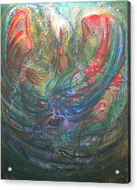 Bondage Broken Acrylic Print by Sheri Lauren Schmidt