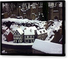 Bondville Model Village Acrylic Print by Merice Ewart