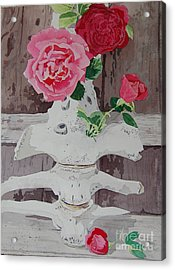 Bones And Roses Acrylic Print