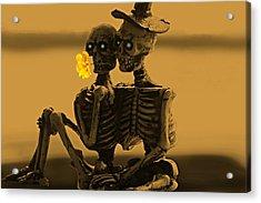 Bones In Love  Acrylic Print by David Dehner