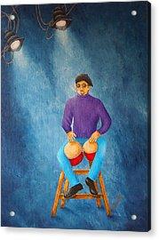 Bongo Man Acrylic Print by Pamela Allegretto