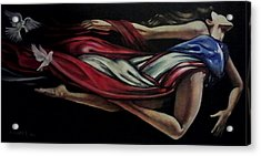 Bonita Bandera Acrylic Print by Ramon Lopez Collazo