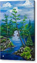 Bonnechere Falls Acrylic Print by Jill Alexander