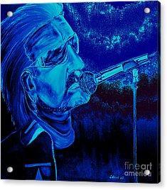 Bono In Blue Acrylic Print by Colin O neill