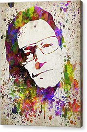 Bono In Color Acrylic Print by Aged Pixel