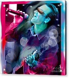 Bono Of U2 Acrylic Print
