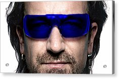 Bono Of U2 Acrylic Print by Marvin Blaine